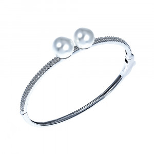 925 Sterling Silver bracelets with mallorca and pearl