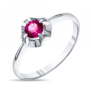 925 Sterling Silver women's rings with corundum