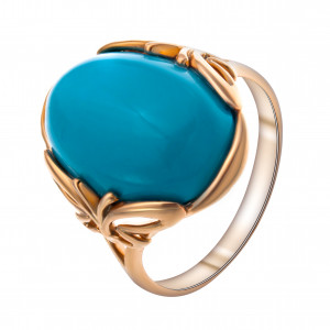 925 Sterling Silver women's rings with turquoise