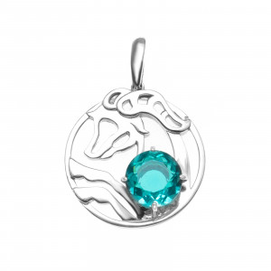 925 Sterling Silver pendants with alpana