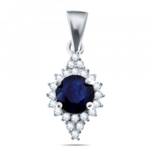 925 Sterling Silver pendants with sapphire