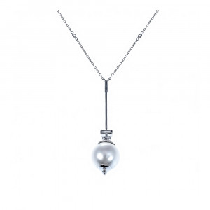 925 Sterling Silver necklaces with pearl and mallorca