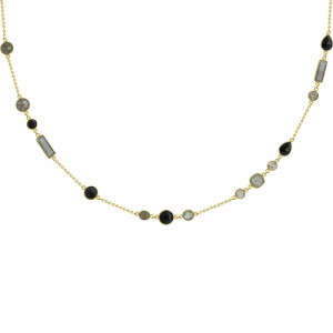 925 Sterling Silver necklaces with  and onyx
