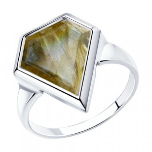 925 Sterling Silver women's rings with labradorite
