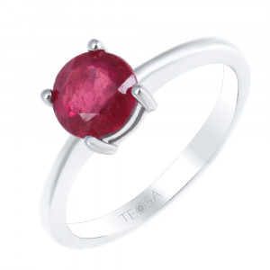 925 Sterling Silver women's rings with  and rubin