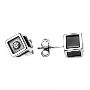 925 Sterling Silver pair earrings with ceramics