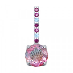 925 Sterling Silver pendants with sitall and cubic zirconia