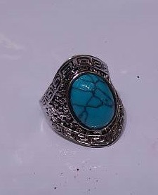 Bijuterii Alloy women's rings with synthetic turquoise
