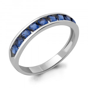 925 Sterling Silver women's rings with cubic zirconia and sapphire gt