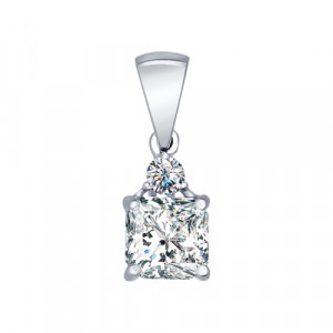 925 Sterling Silver pendants with cubic zirconia and cubic zirconia swarovski