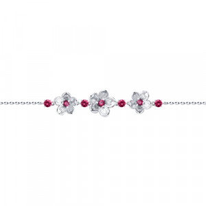 925 Sterling Silver bracelets with enamel and corundum