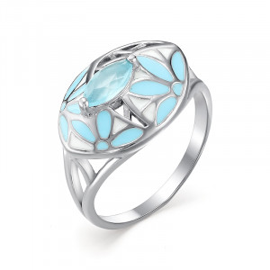 925 Sterling Silver women's rings with blue agate and agate