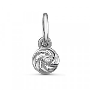 925 Sterling Silver pendants with diamond