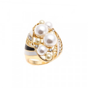 Bijuterii Alloy women's ring with pearl