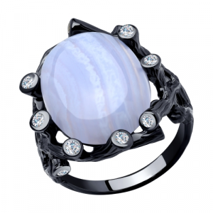 925 Sterling Silver women's rings with agate and synthetic agate