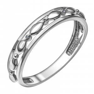 925 Sterling Silver women's rings with diamond