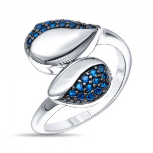 925 Sterling Silver women's rings with sapphire gt