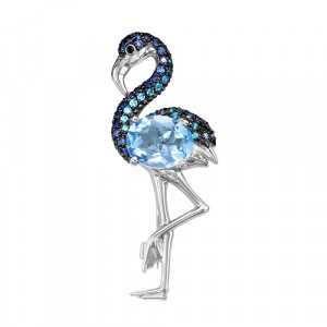 925 Sterling Silver brooches with topaz