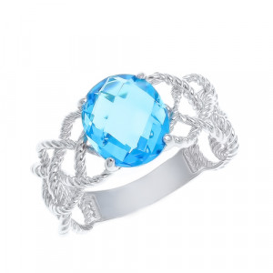925 Sterling Silver women's rings with crystal jewelry