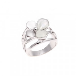Bijuterii Alloy women's ring with mother of pearl