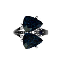 925 Sterling Silver women's ring with rubin
