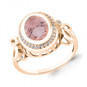 925 Sterling Silver women's rings with morganite hydroterm. and morganite