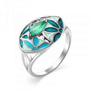 925 Sterling Silver women's rings with agate and enamel
