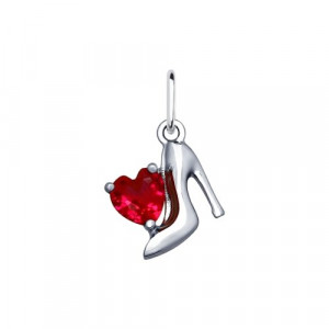925 Sterling Silver pendants with corundum and cubic zirconia