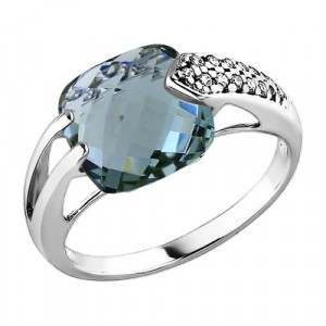 925 Sterling Silver women's rings with synthetic quartz and quartz