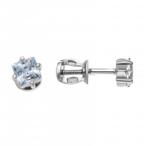 925 Sterling Silver pair earrings with swarovski and cubic zirconia swarovski