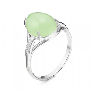925 Sterling Silver women's rings with synthetic jade and jade