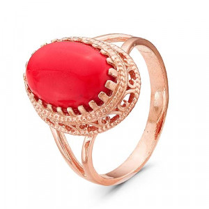 925 Sterling Silver women's rings with coral and glass
