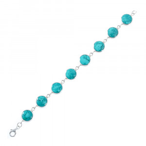 925 Sterling Silver bracelets with chrysocolla and mother of pearl