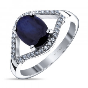 925 Sterling Silver women's rings with  and corundum
