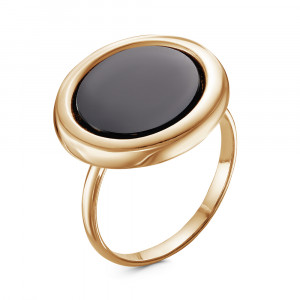 925 Sterling Silver women's rings with black agate and glass