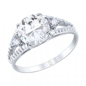 925 Sterling Silver women's rings with cubic zirconia and rhinestone
