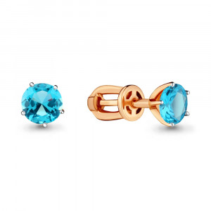 925 Sterling Silver pair earrings with topaz and
