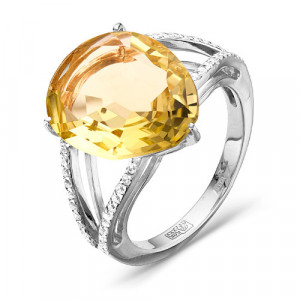 925 Sterling Silver women's rings with crystal jewelry and crystal