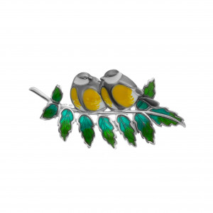 925 Sterling Silver brooches with enamel