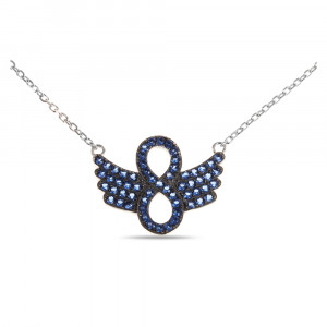 925 Sterling Silver necklaces with blue nano opal