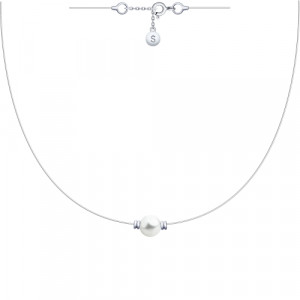 925 Sterling Silver necklaces with  and pearl imit.
