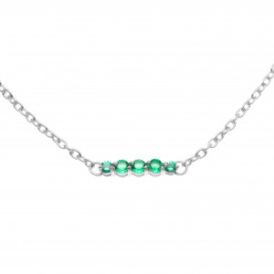 925 Sterling Silver necklaces with  and cubic zirconia
