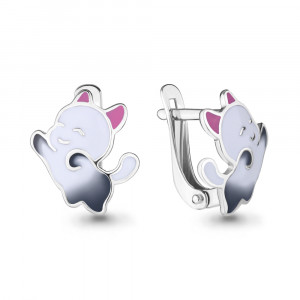 925 Sterling Silver pair earrings with enamel