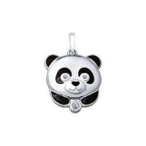 925 Sterling Silver pendants with cubic zirconia and enamel