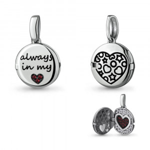 925 Sterling Silver pendants with nano-tourmaline and cubic zirconia