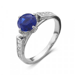 925 Sterling Silver women's rings with synthetic spinel and multicolor cubic zirconia