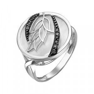 925 Sterling Silver women's rings with cubic zirconia and mother of pearl