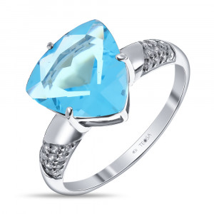 925 Sterling Silver women's rings with glass and