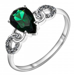 925 Sterling Silver women's rings with  and tourmaline
