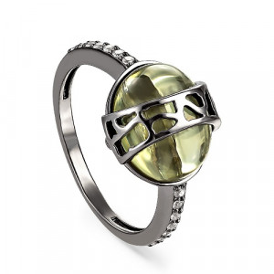 925 Sterling Silver women's rings with sitall and ceramics
